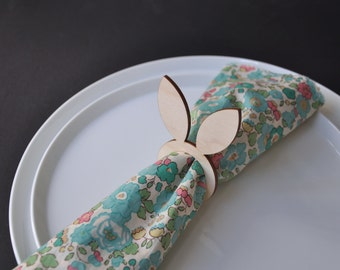 4 x Easter Bunny napkin rings, plywood laser cut serviette ring
