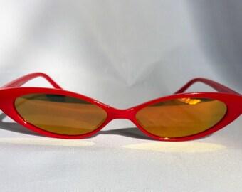 90's Cateye Sunglasses micro mirrored