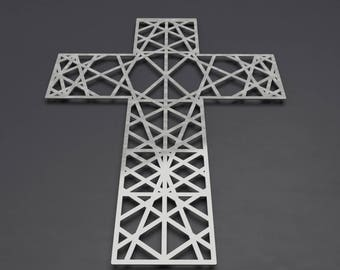 Modern Metal Wall Cross Sculpture, Large Wall Cross, Christian Home Decor,  Metal Wall Crosses, Large Metal Wall Art, Christian Wall Art