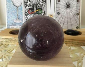 62 mm Large Amethyst Sphere altar piece meditation stone MTQ