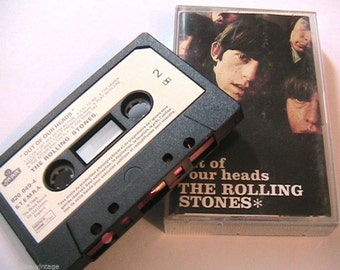 The Rolling Stones Vintage Music Audio Cassette Tape & Booklet and Photos - Out of our Heads - Made in UK - New