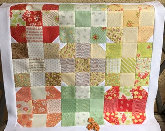 "20 1/2"" sq. DIY Spring Table Topper!  