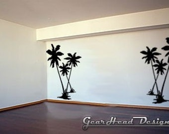 Vinyl Wall Decal - Palm Trees