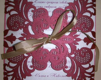 Wedding Invitation Marvelous Lace Touch
