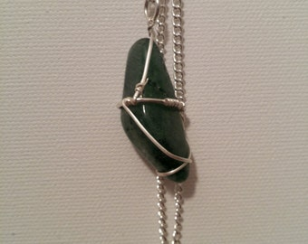 Green Aventurine Wire Wrapped Necklace