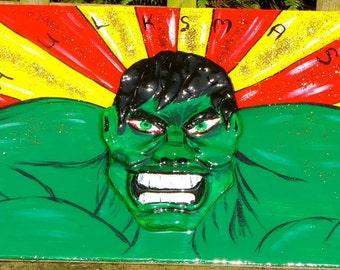 Handmade Hulk Clay MIxed Media Art