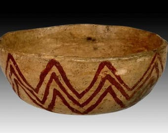Pre Historic Sinagua Painted Pottery Bowl,#1116
