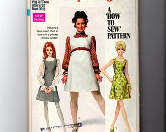 1968 Junior Jumper or Dress and Blouse Pattern 8008