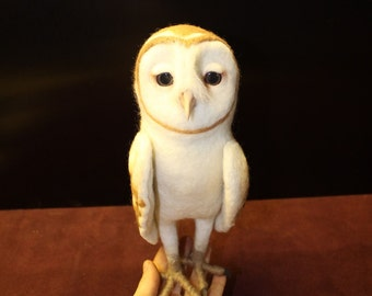 Made to order (this very item is alredy SOLD) Barn Owl (Tyto alba), Soren (Legend of the Guardians), OOAK Owl