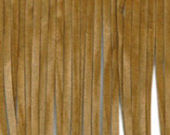 Faux Suede Double Faced Fringe trim, 4 inch faux leather fringe trim by the yard, cowboy fringe trim, brown suede trim, light brown fringe