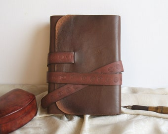 leather journal - brown leather notebook, diary - brown leather journal - Journey