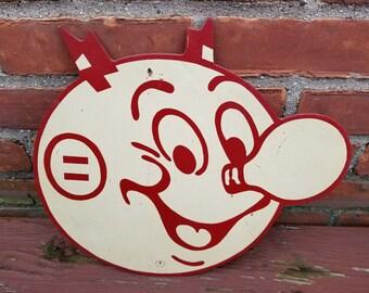Vintage Reddy Kilowatt Double Sided Wood Sign