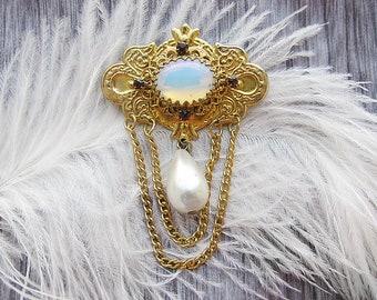 opal brooch antique brooch antique jewelry flower brooch floral jewelry retro brooch art nouveau brooch art deco brooch old 1960s' jewelry