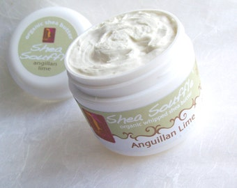LIME Organic whipped shea butter 4oz  Bath and Beauty Natural Skincare