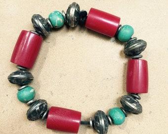 Multicolor Bead Bracelet