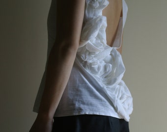 Linen Top / Summer Wedding Top/ Alternative Wedding Outfit by NervousWardrobe on Etsy