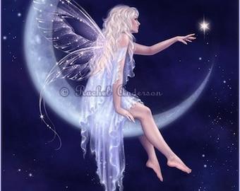 Blue Moon Fairy Art Print - Birth of a Star