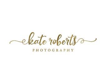 premade text logo, photography logo design, script font logo,  heart swash logo, business branding, photography watermark 041