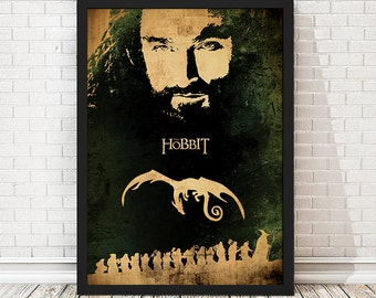 The Hobbit The Lord of the Rings Movie Poster, LOTR Poster, LOTR Print, Hobbit Artwork, Hobbit Print