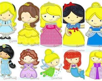 Fer bricolage sur APPLIQUE princesse blanche-neige Belle Cendrillon Aurora Sleeping Beauty Rapunzel Ariel