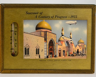1933 Chicago World's Fair Thermometer - Oriental Village Picture