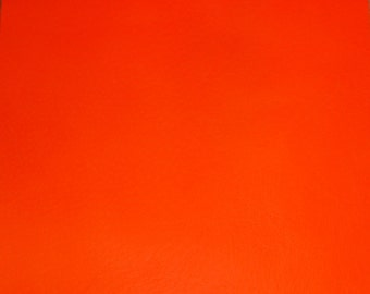 """NEON Leather 8""""x10"""" Thin Bright Orange Neon FIRM PIGSKIN Hide 1.75-2.25 oz / .7-.9 mm PeggySueAlso™ E2531-03"""
