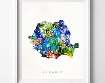 Romania Map Print, Bucharest Print, Romania Poster, Romanian Map, Map Art, State Art, Giclee Art, Map, Travel Poster, Fathers Day Gift