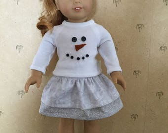 Snowman outfit for American Girl Doll