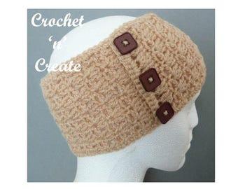 Adult Headband Crochet Pattern (DOWNLOAD) CNC18
