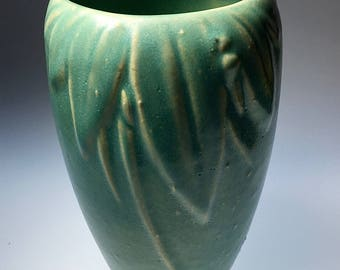 McCoy American Art Pottery Leaf and Berry Design Vase