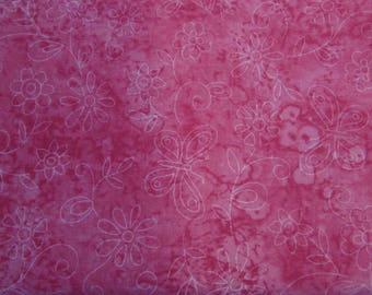 Hot Pink Butterfly/flower print - Dog bandanas