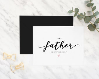 To my father on my wedding day card, dad card, wedding day card, father of the bride card, father of the groom card, wedding, to my father