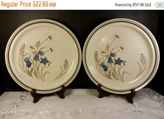 Delayed Shipping Hill Top by Royal Doulton Dinner Plates 2 Vintage Lambethware Made in England Tableware 1977 Dishwasher Freezer Oven Safe B
