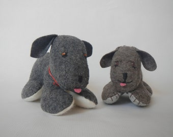 """Puppy Sewing Pattern- made with Wool felt - size=5"""" x 6"""" inches"""