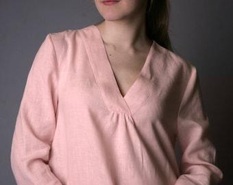 Linen Tank /Linen Night Gown/ Linen Robe/ Night Dress/ Eco Friendly Sleepwear/ Organic Nightwear