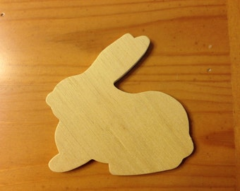 Unfinished Wooden Bunny Rabbit Set of 12