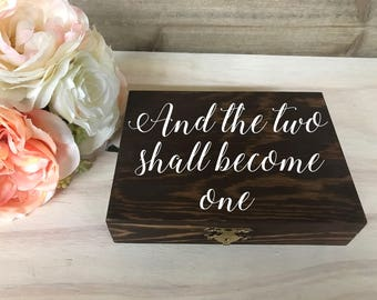 Personalized Wedding Ring Box / Wood Ring Box / Ring Bearer Box / Double Ring Box / Wood Box / Ring Box / Wedding Box / Ring Bearer / Rustic