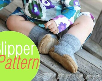 Booties Pattern for Babies, Tutorial PDF, Instant Download, by Wooly Baby, Baby sizes 0-12, 6-18, 12-24 months