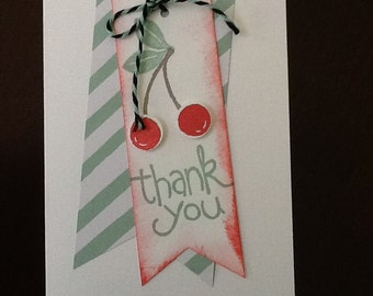 Stampin' Up! Thank you notes.  Set of 4 cards