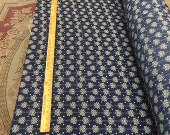 97 poly 3 spandex Boho 58-60 in w Navy n White Fabric by the yard