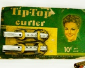 1940's Solo Invisible Curlers and Tip Top Curlers on Original Cards