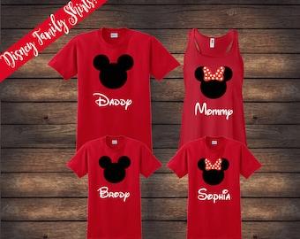 ON SALE | Disney Family Shirts | Matching Family Shirts | Disney Shirts | Custom Disney Shirts | Mickey Minnie Shirts | Disney Vacation
