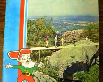 vintage travel ephemera  ... ROCK CITY CHATTANOOGA full color Travel souvenir booklet tourism ephemera  ...