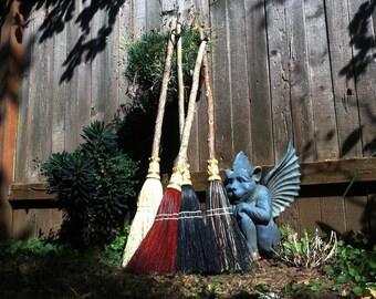 Small Wedding Broom, Jumping Broom in your choice of Natural, Black, Rust or Mixed Broomcorn - Broom Jumping & Hand fasting Broom