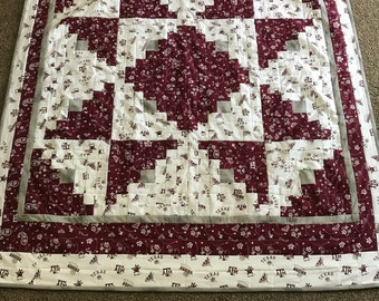 Quilted Throw with Texas A&M Fabric