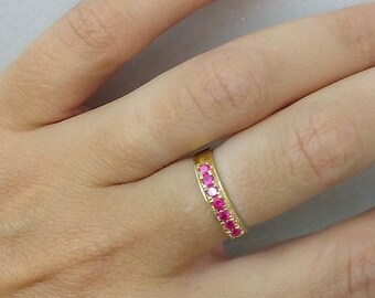 SALE! Ruby ring, stacking july ring, gold ring, dainty ring,gemstone ring, stack tiny ring,many stones ring,wedding gift