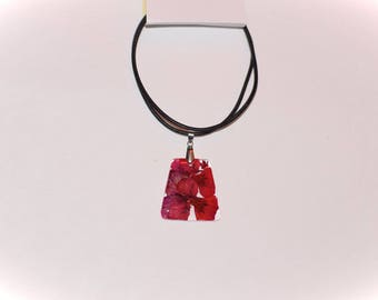 Flower necklace natural Petal Pink