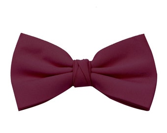 Merlot Boy's Wedding Bow Tie available in 37 colours by Matchimony