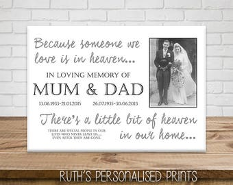 Memorial Canvas RIP Remember Loved Ones