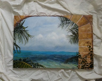 Half Moon Cay Original Acylic Painting